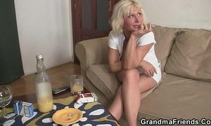 cock  cum swallowing  granny  young and old