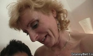 blonde mature  cock  grandma  old cunt  riding on boy