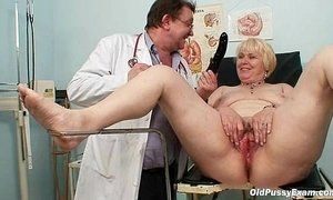 blonde mature  chubby  doctor  hairy pussy  mom