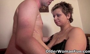 curvy mature  mom and boy