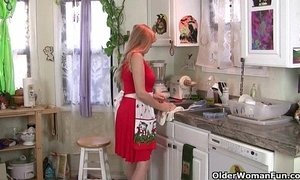 kitchen  masturbating  mom  mom and boy